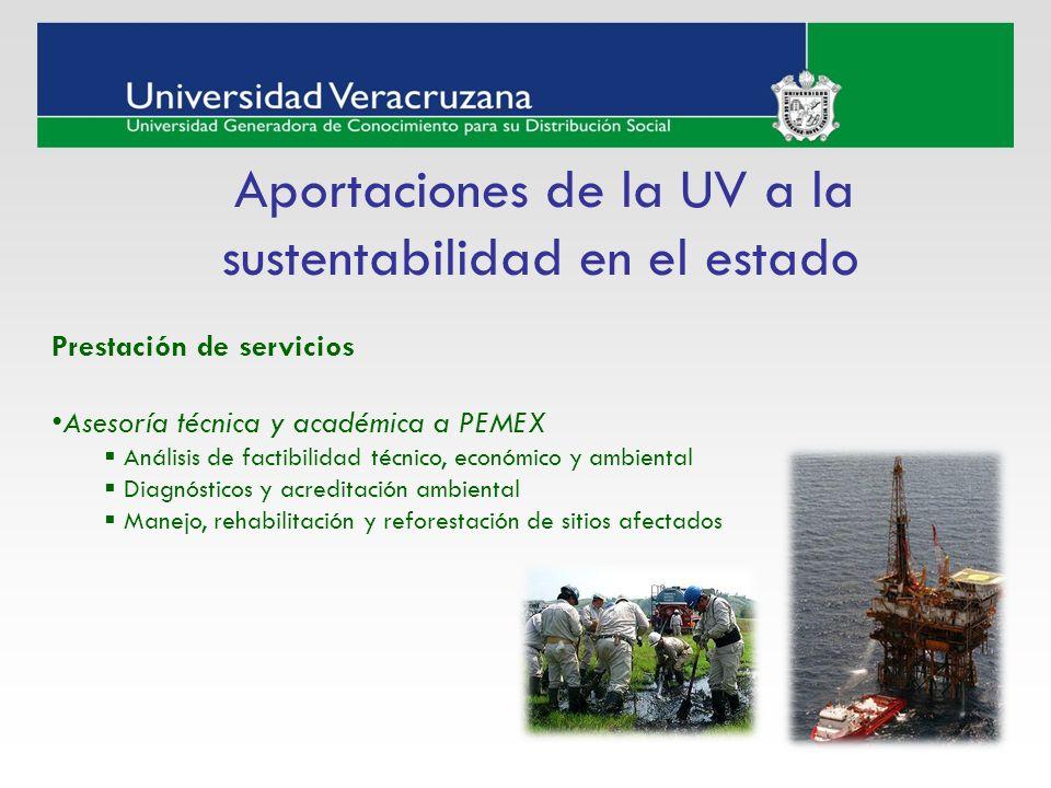 Aportaciones de la UV a la sustentabilidad en el estado
