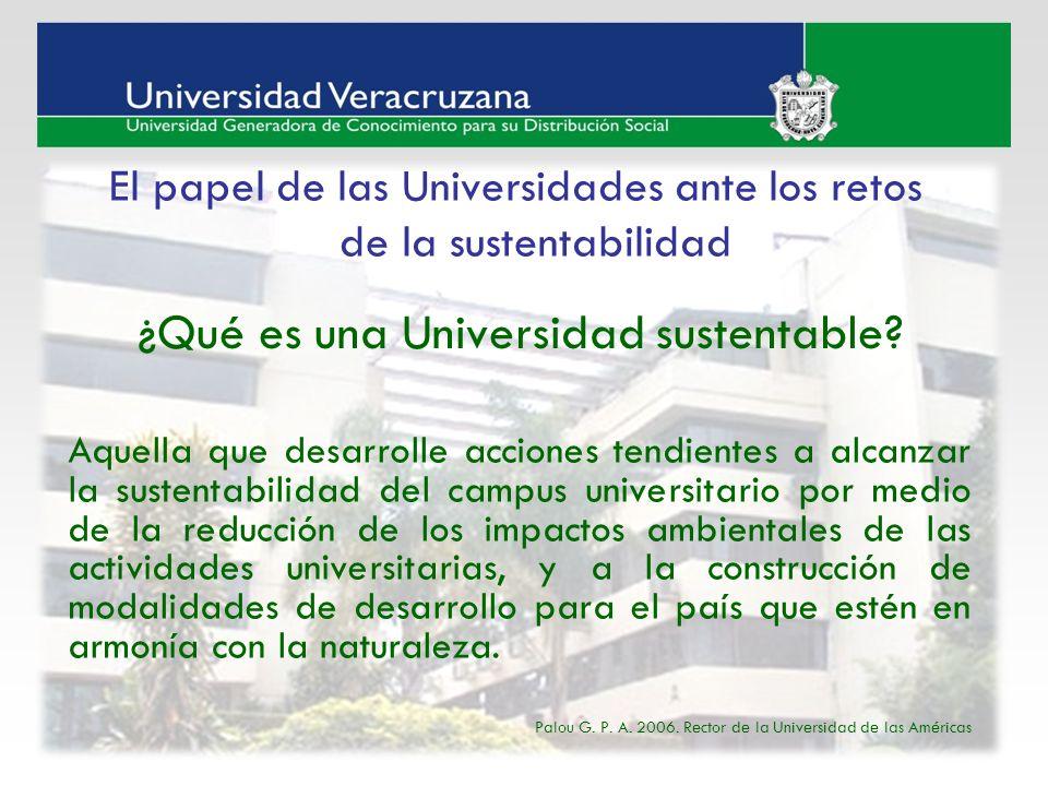 ¿Qué es una Universidad sustentable