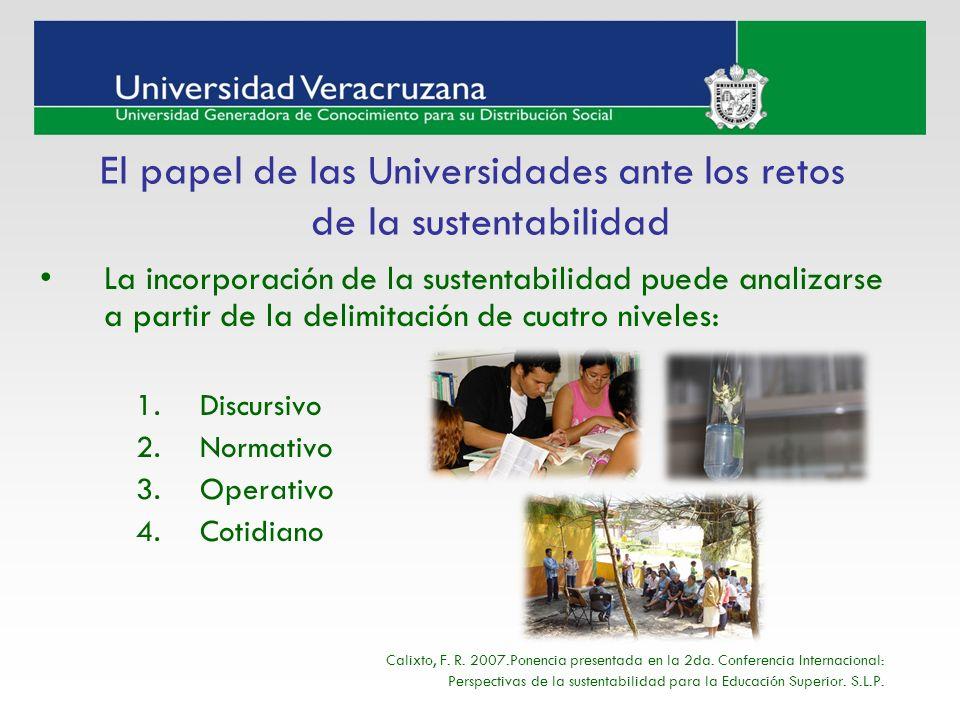 El papel de las Universidades ante los retos de la sustentabilidad