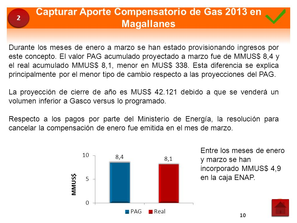 Capturar Aporte Compensatorio de Gas 2013 en Magallanes