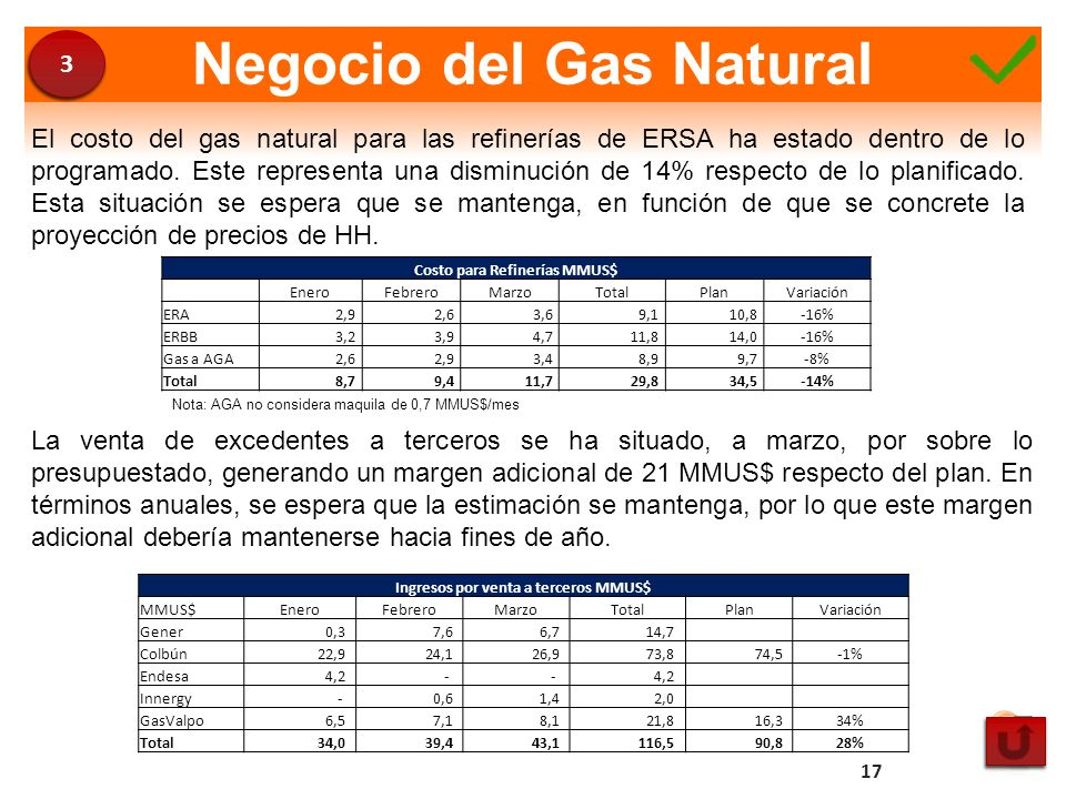 Negocio del Gas Natural