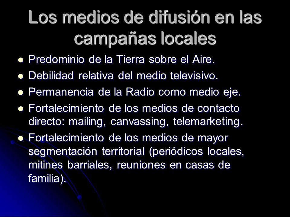 Los medios de difusión en las campañas locales