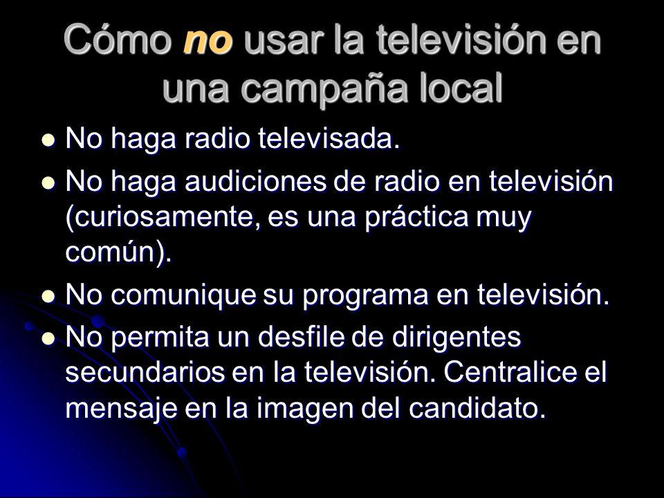 Cómo no usar la televisión en una campaña local