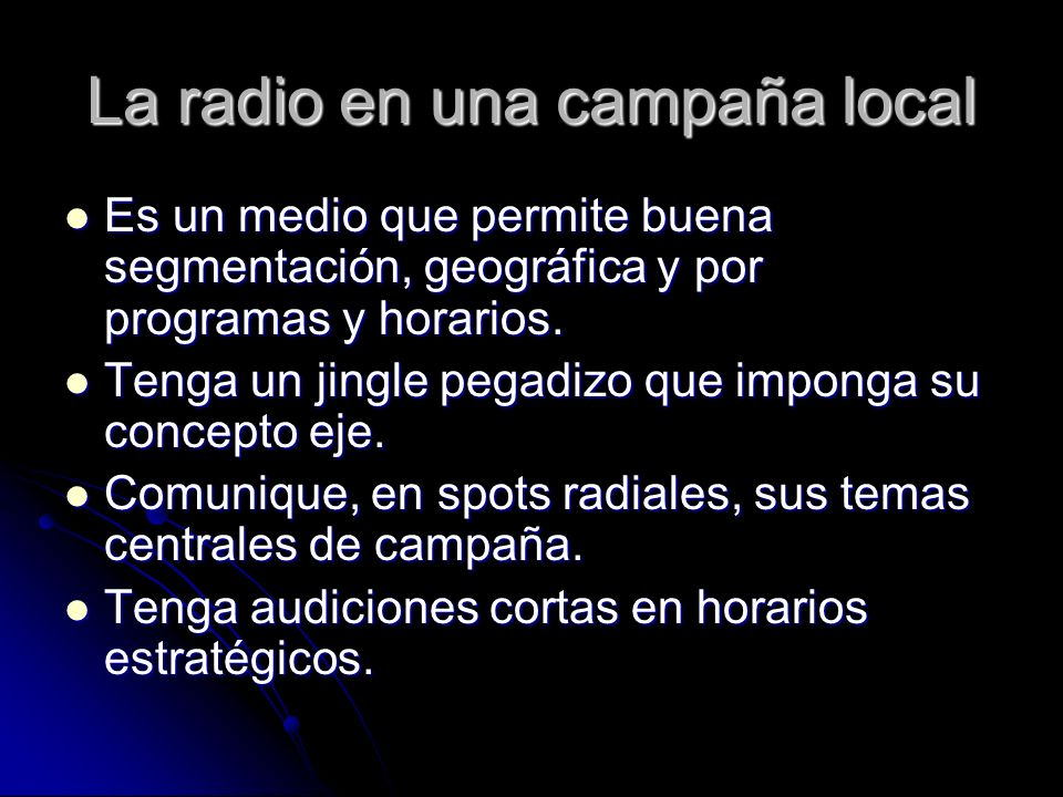 La radio en una campaña local