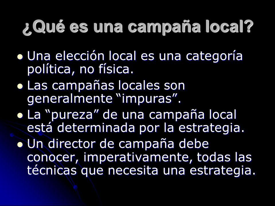 ¿Qué es una campaña local