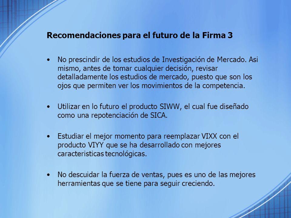 Recomendaciones para el futuro de la Firma 3