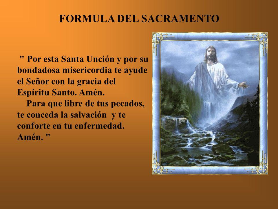 FORMULA DEL SACRAMENTO