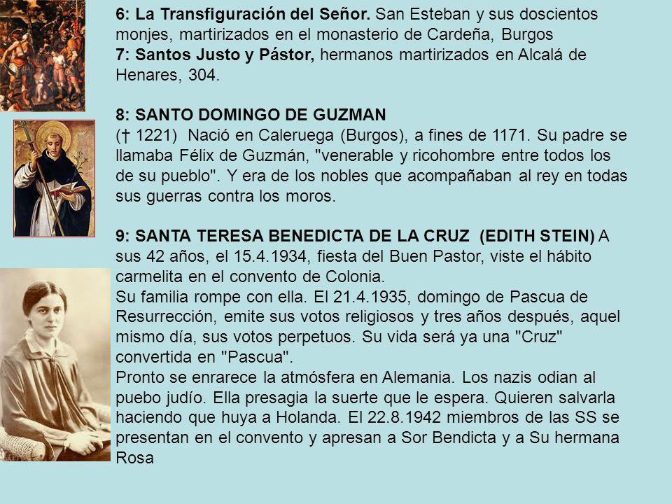 6: La Transfiguración del Señor