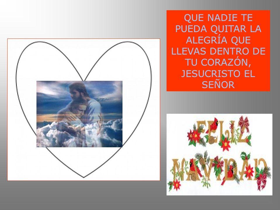 QUE NADIE TE PUEDA QUITAR LA ALEGRÍA QUE LLEVAS DENTRO DE TU CORAZÓN, JESUCRISTO EL SEÑOR