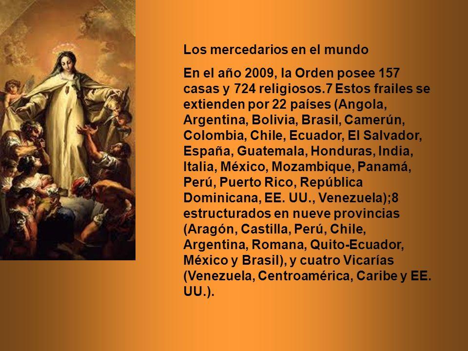 Los mercedarios en el mundo