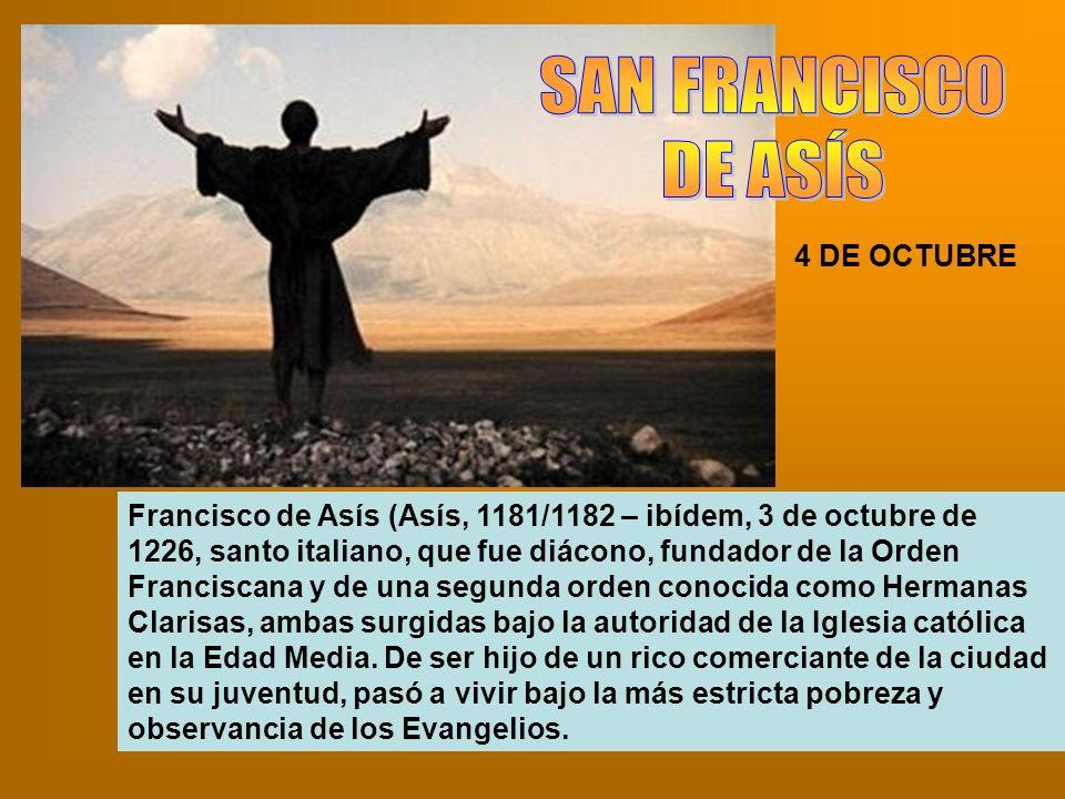 SAN FRANCISCO DE ASÍS 4 DE OCTUBRE
