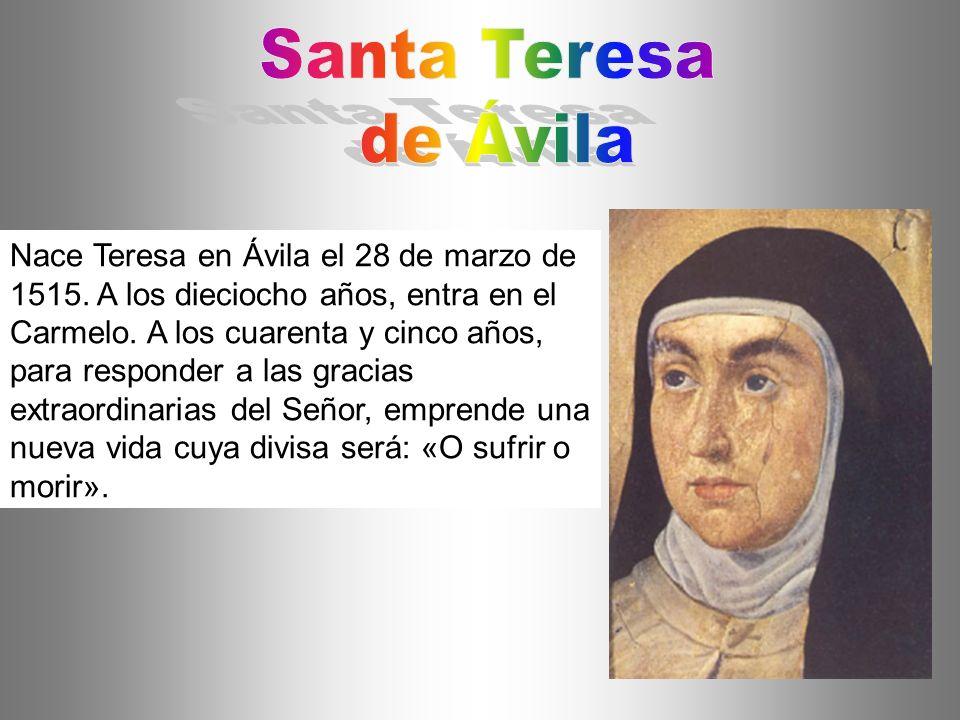 Santa Teresa de Ávila.