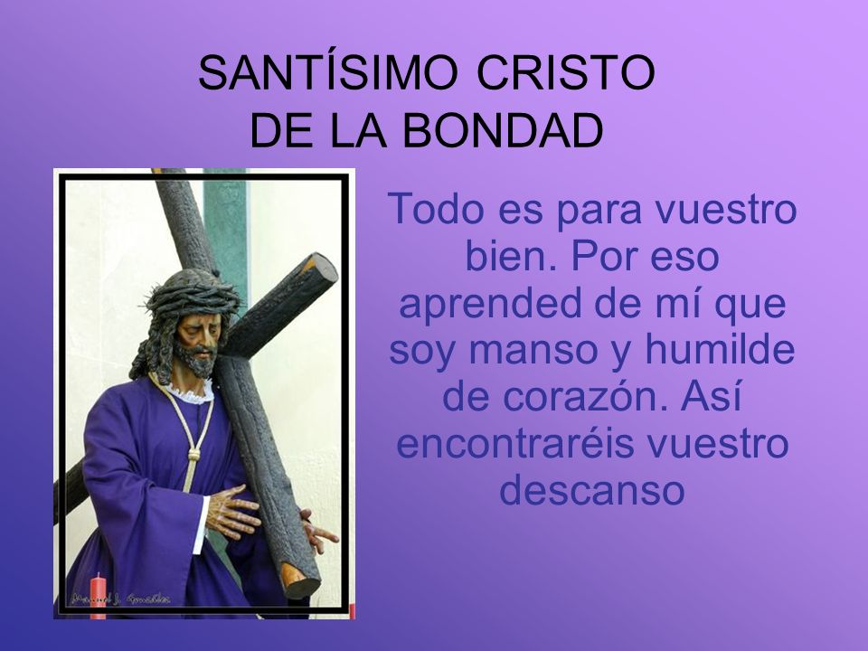 SANTÍSIMO CRISTO DE LA BONDAD