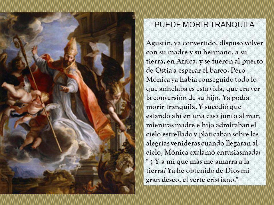 PUEDE MORIR TRANQUILA