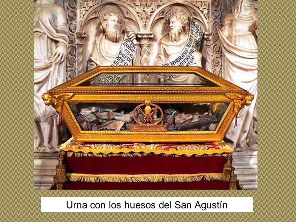 Urna con los huesos del San Agustín
