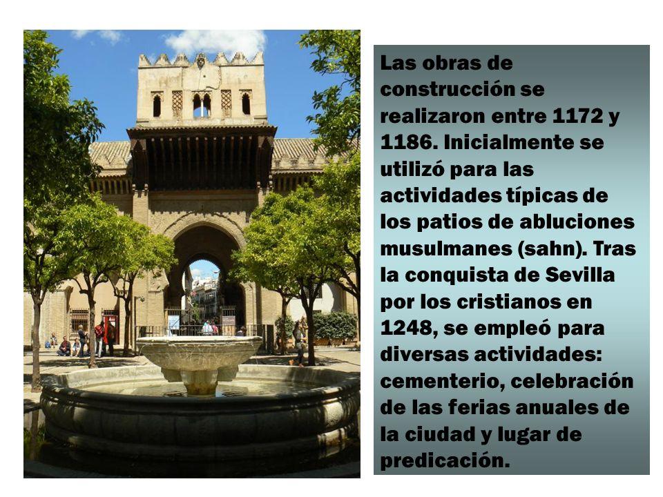 Las obras de construcción se realizaron entre 1172 y 1186