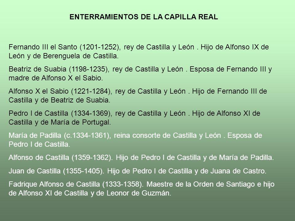 ENTERRAMIENTOS DE LA CAPILLA REAL