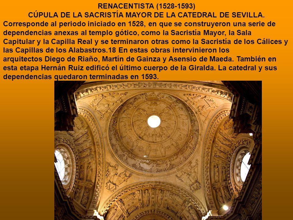 CÚPULA DE LA SACRISTÍA MAYOR DE LA CATEDRAL DE SEVILLA.