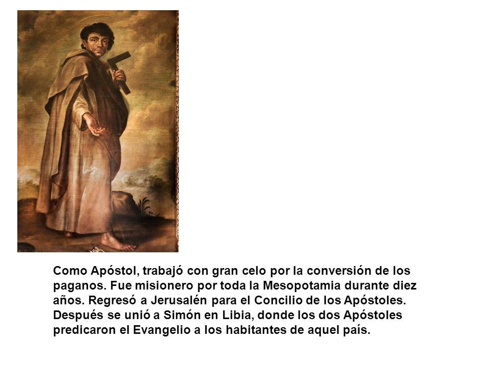 Como Apóstol, trabajó con gran celo por la conversión de los paganos