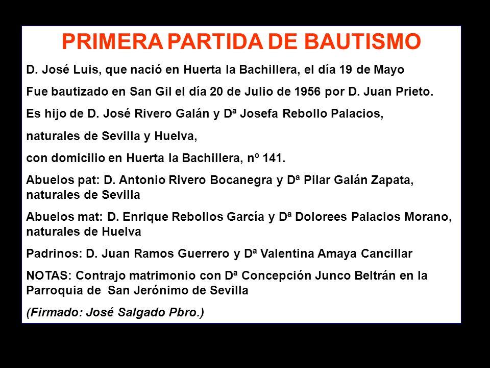 PRIMERA PARTIDA DE BAUTISMO