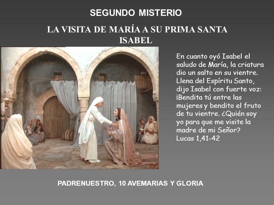 LA VISITA DE MARÍA A SU PRIMA SANTA ISABEL