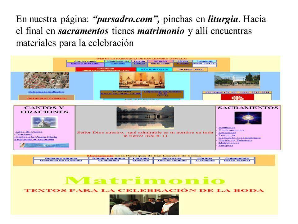 En nuestra página: parsadro. com , pinchas en liturgia