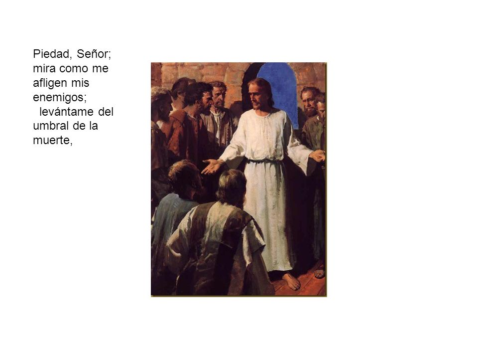 Piedad, Señor; mira como me afligen mis enemigos;