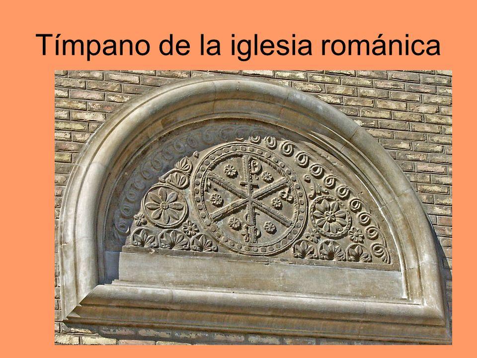 Tímpano de la iglesia románica