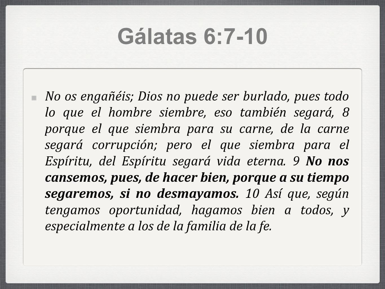 Gálatas 6:7-10