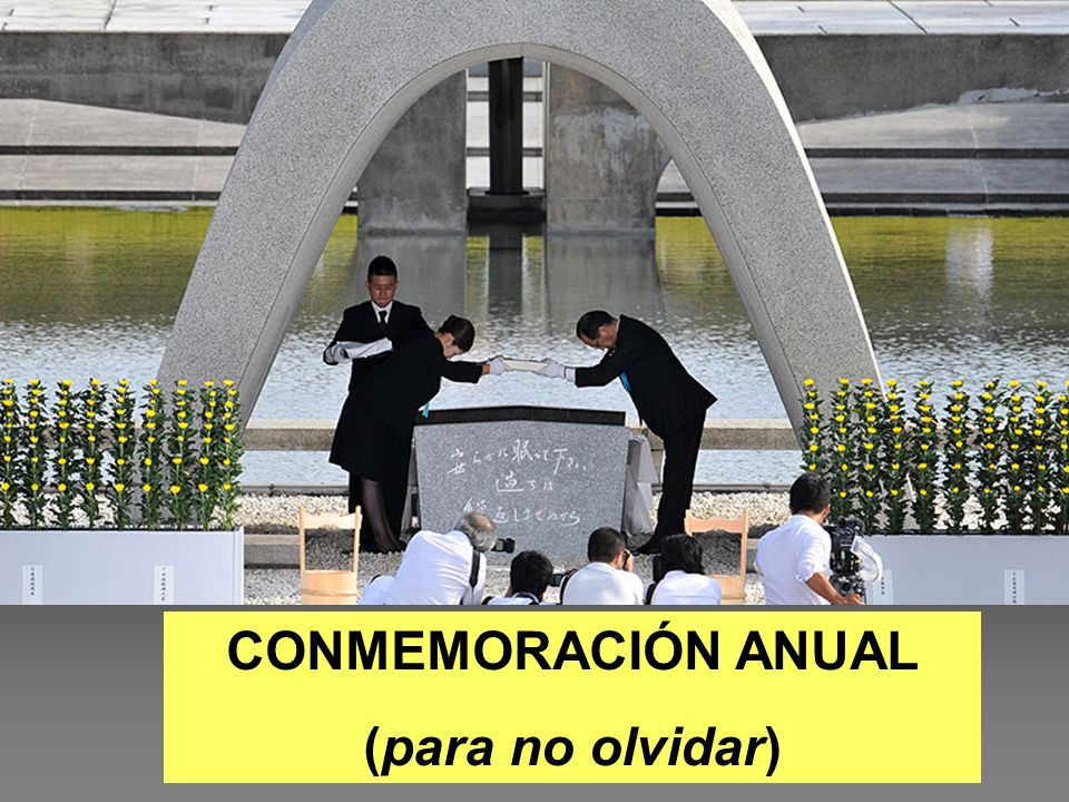 CONMEMORACIÓN ANUAL (para no olvidar)