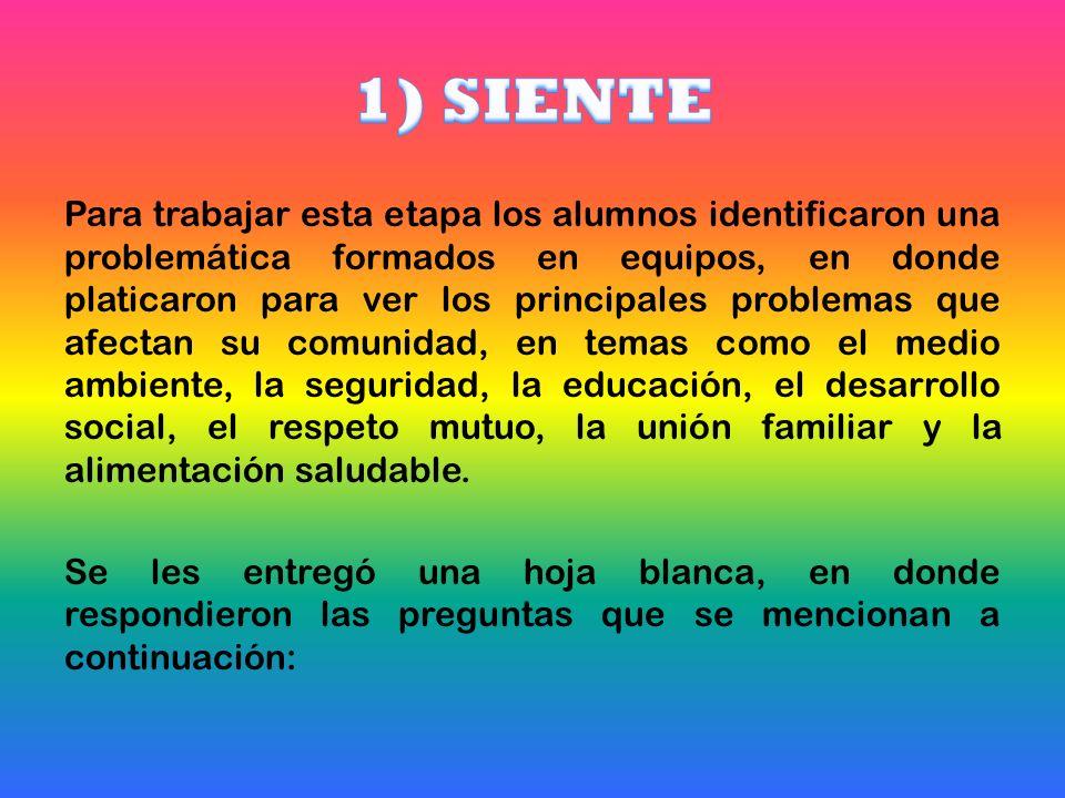 1) SIENTE