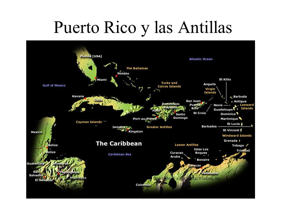 Puerto Rico y las Antillas Mayores