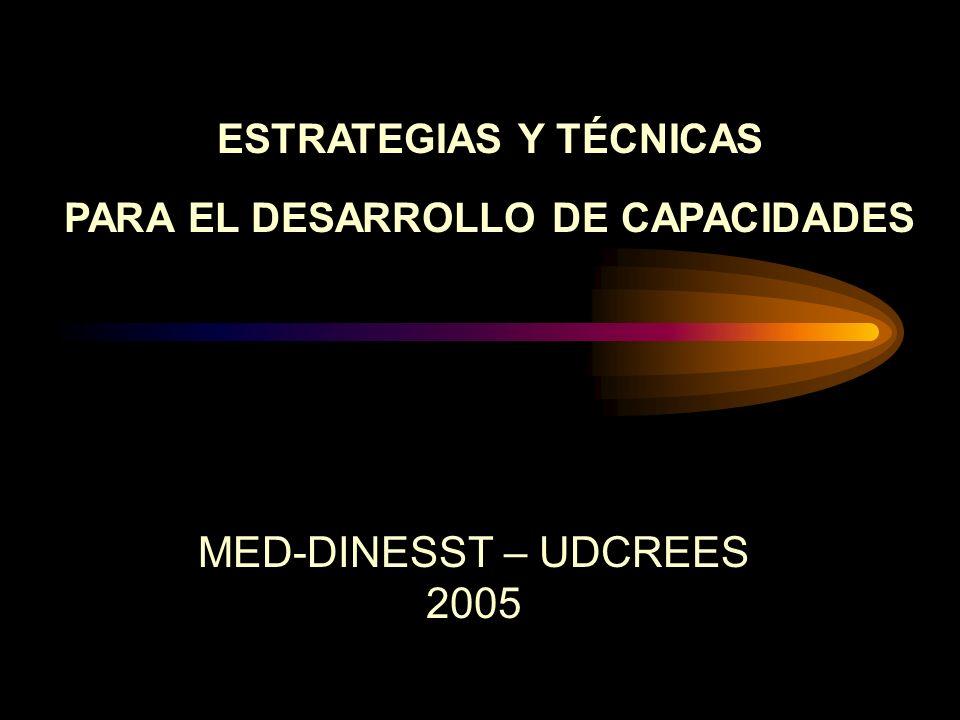 ESTRATEGIAS Y TÉCNICAS PARA EL DESARROLLO DE CAPACIDADES