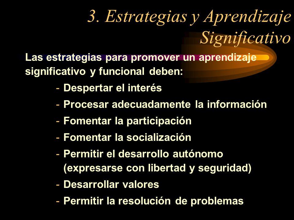 3. Estrategias y Aprendizaje Significativo