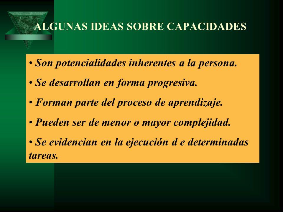 ALGUNAS IDEAS SOBRE CAPACIDADES