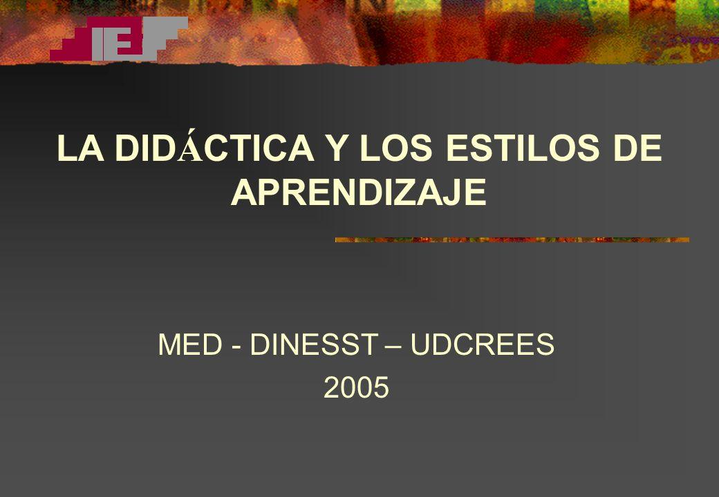 LA DIDÁCTICA Y LOS ESTILOS DE APRENDIZAJE