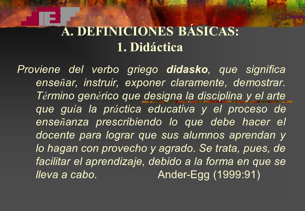 A. DEFINICIONES BÁSICAS: