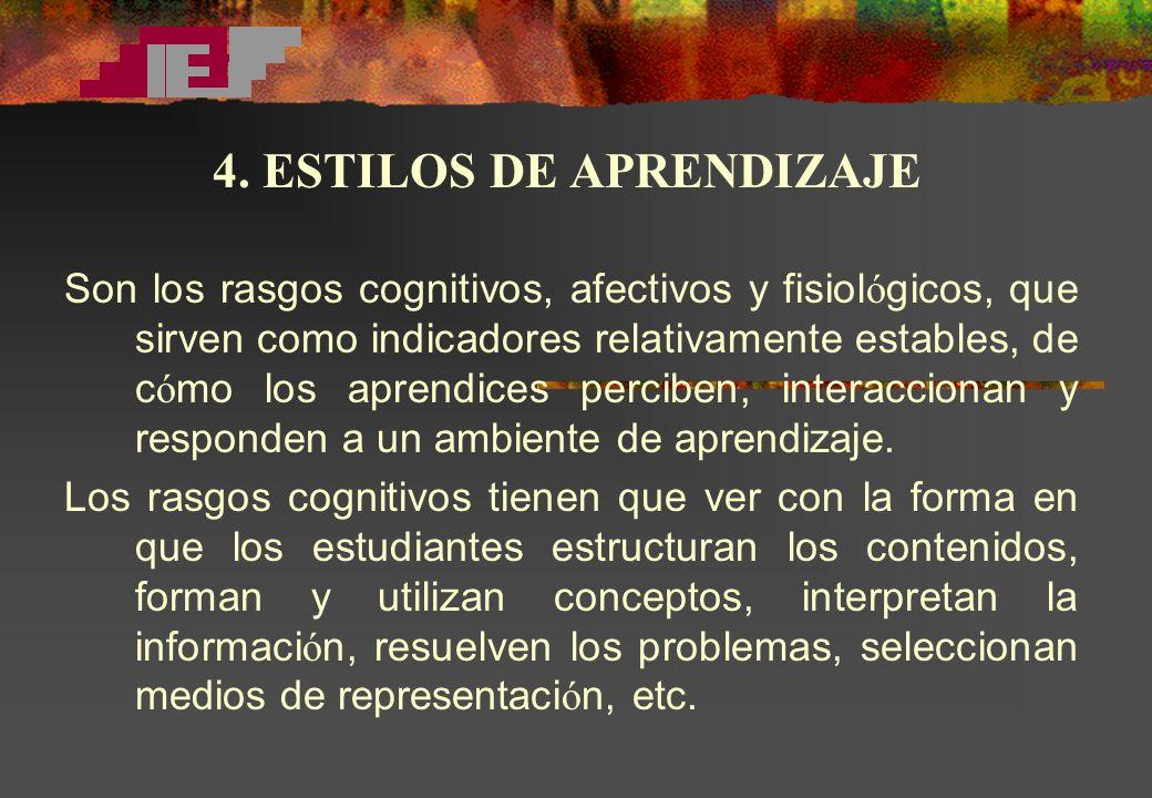 4. ESTILOS DE APRENDIZAJE