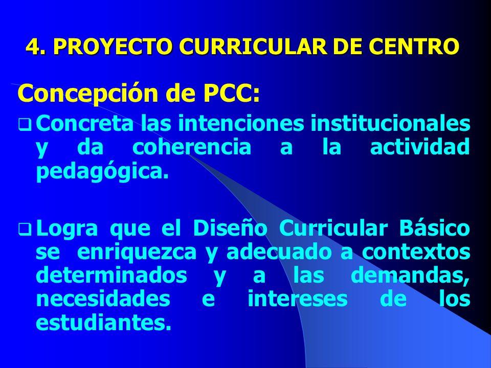 4. PROYECTO CURRICULAR DE CENTRO