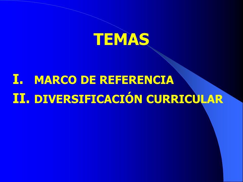 TEMAS MARCO DE REFERENCIA DIVERSIFICACIÓN CURRICULAR