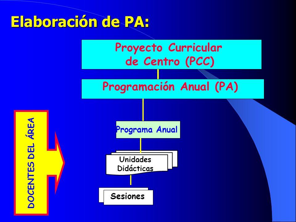 Programación Anual (PA)