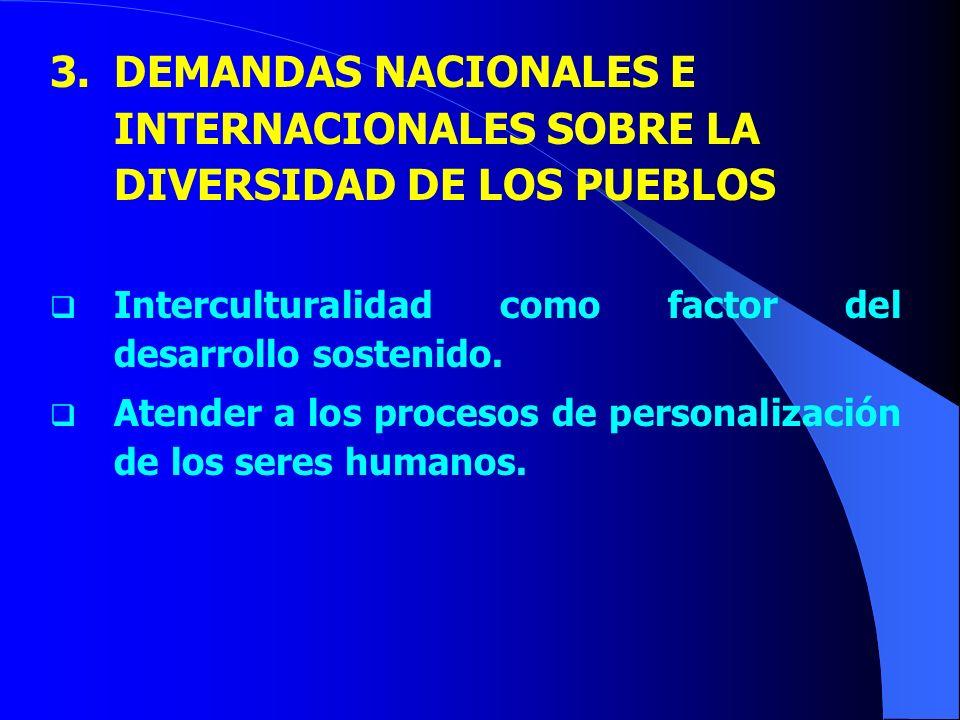DEMANDAS NACIONALES E INTERNACIONALES SOBRE LA DIVERSIDAD DE LOS PUEBLOS