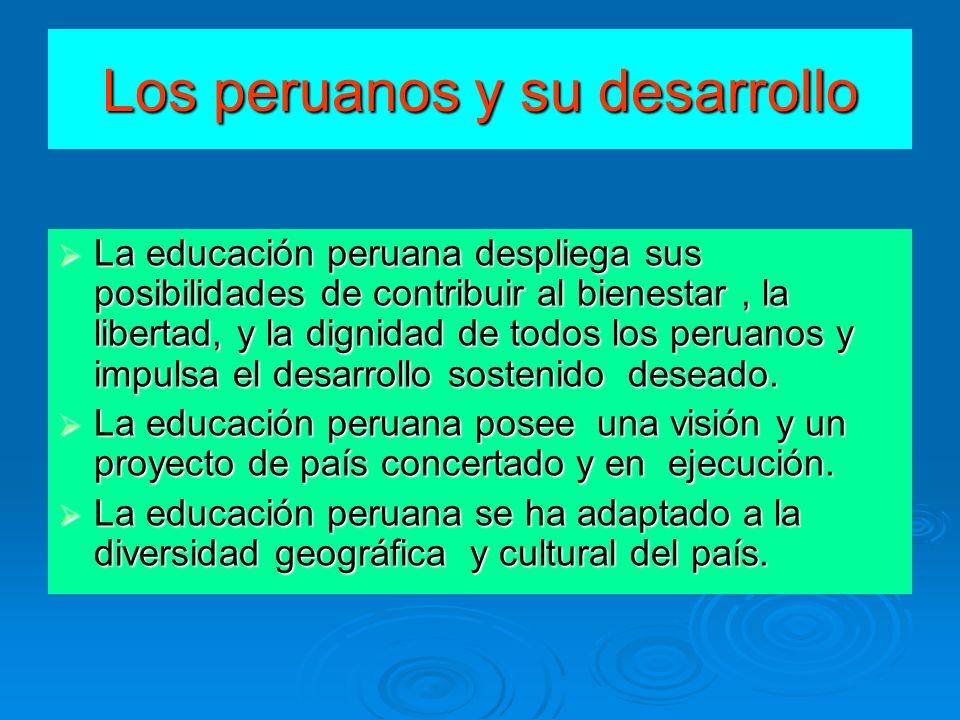 Los peruanos y su desarrollo