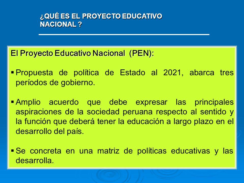 El Proyecto Educativo Nacional (PEN):