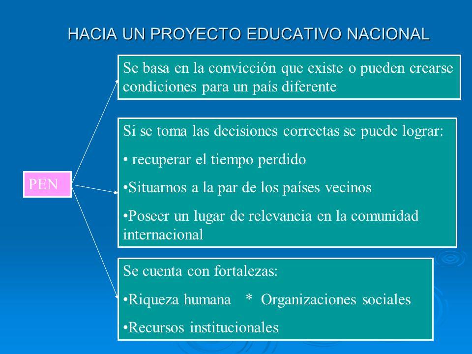 HACIA UN PROYECTO EDUCATIVO NACIONAL