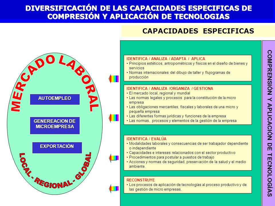 CAPACIDADES ESPECIFICAS
