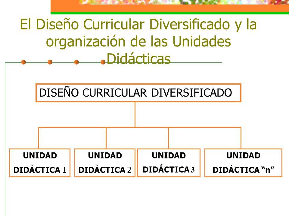 El Diseño Curricular Diversificado y la organización de las Unidades Didácticas