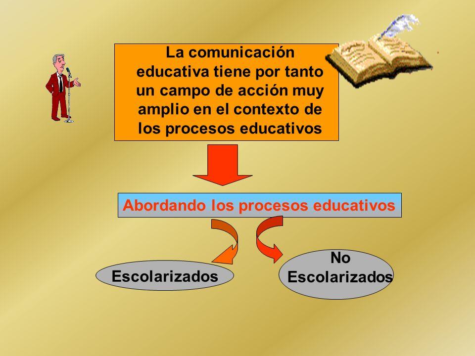 La comunicación educativa tiene por tanto un campo de acción muy amplio en el contexto de los procesos educativos