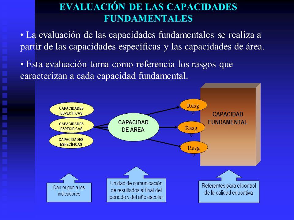 EVALUACIÓN DE LAS CAPACIDADES FUNDAMENTALES