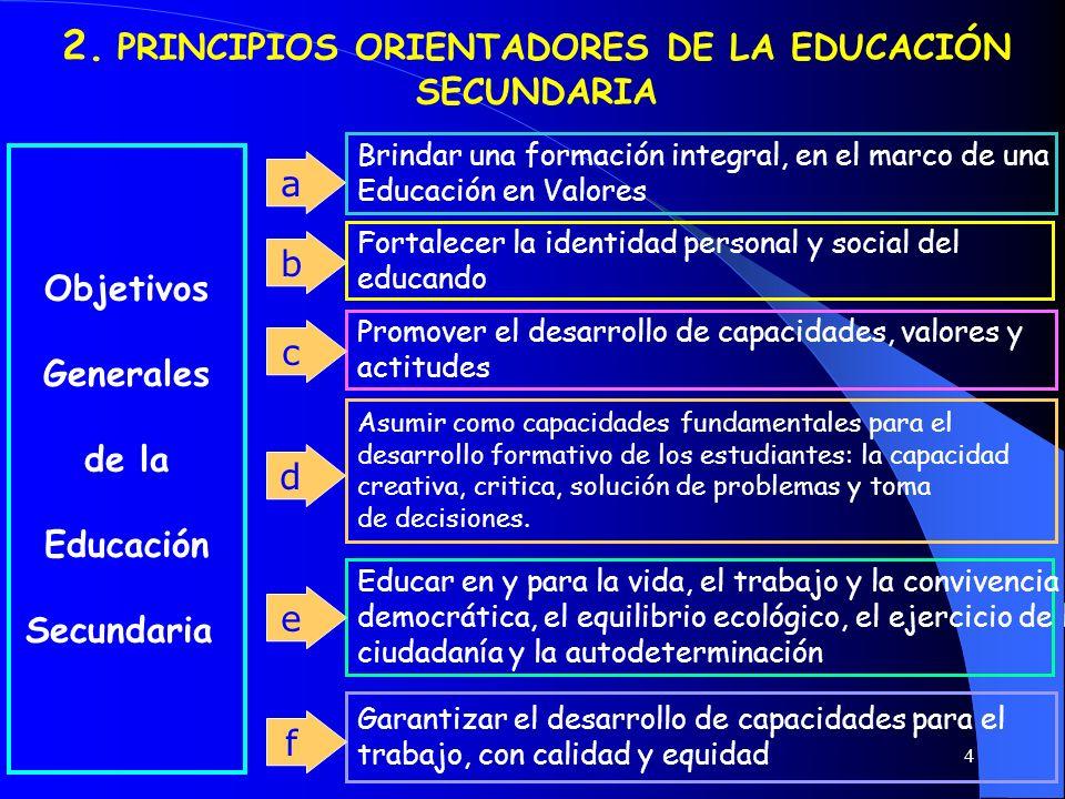 2. PRINCIPIOS ORIENTADORES DE LA EDUCACIÓN SECUNDARIA